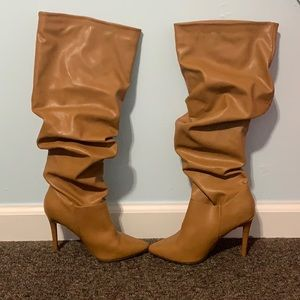 Anne Michelle Knee High Boots Size 6.5